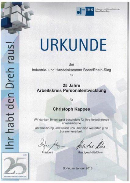 Kappes Catering IHK Urkunde