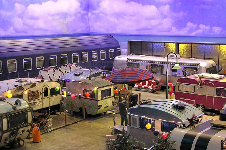 BaseCamp Wohnwagen von oben