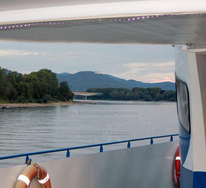 MS Moby Dick Ausblick von Deck