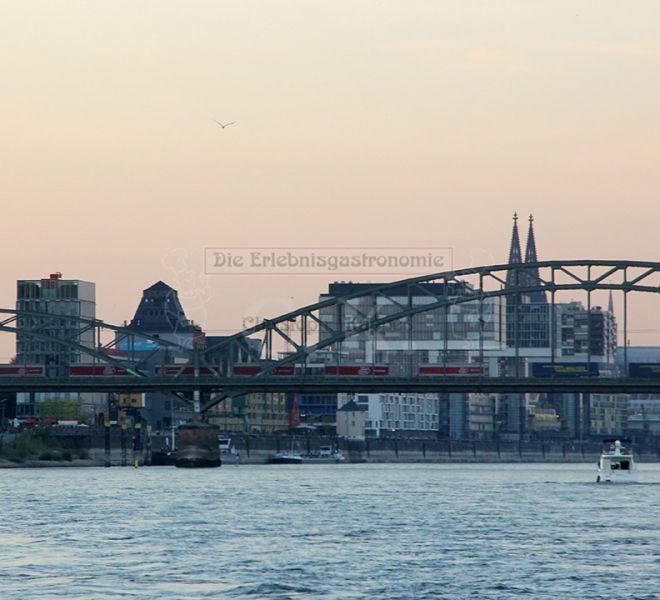 MS Rheinprinzessin Blick auf die Brücken Kölns