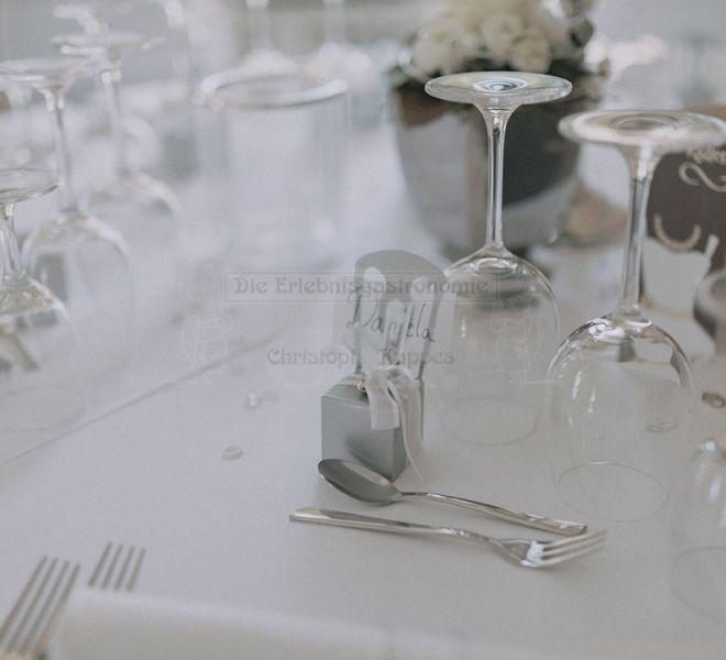 Villa Kalles Details der Tischdekoration