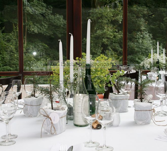 Bonngarten Kerzen auf Tisch