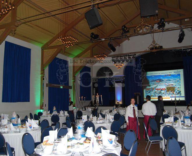 Bürgerhaus Saal zur KÜZ Vorbereitungen für Feierlichkeiten