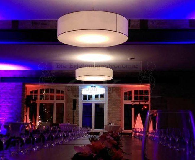 Bungertshof Innenbereich bei Nacht
