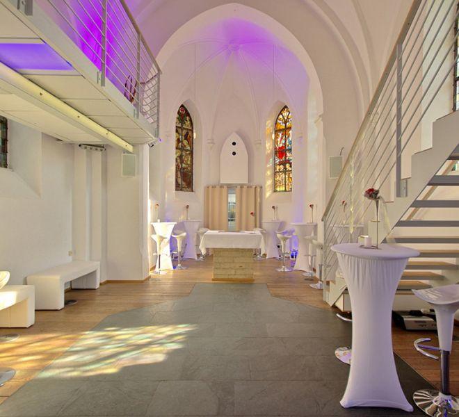 Eventkapelle großzügig geschnittener Innenraum