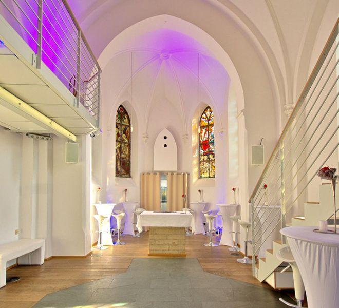 Eventkapelle großzügig geschnittener nnenraum