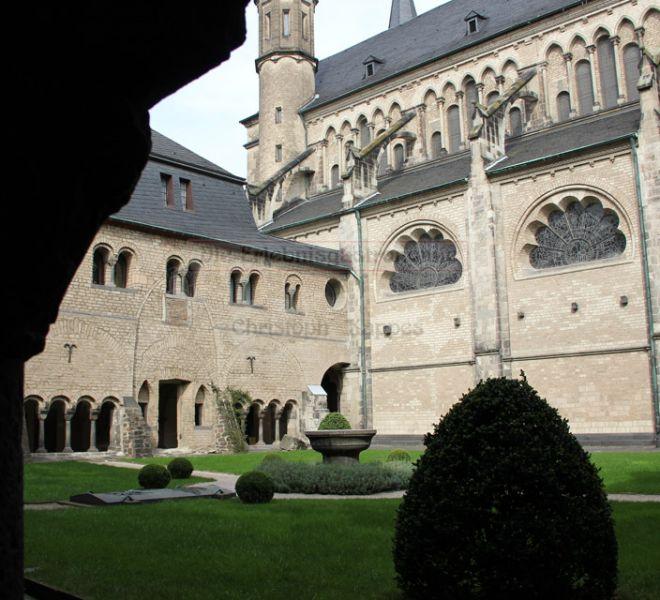 Münster-Carre Innehof mit Blick auf das Bauwerk