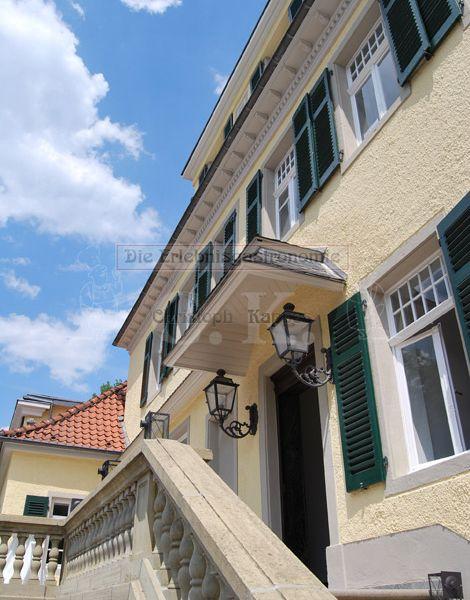 Schloss Eulenbroich Blick auf den Balkon