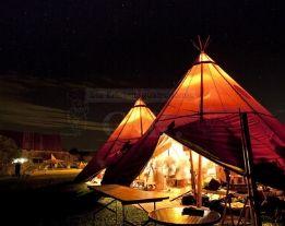Feiern im Tipi-Zelt