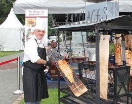 Flammlachs auf dem Weinfest Siegburg